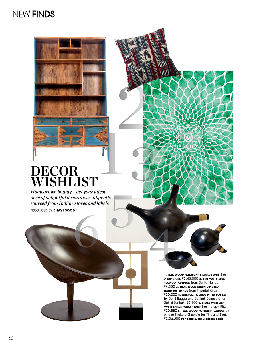 EDITORIAL COVERAGE – ELLE DECOR INDIA